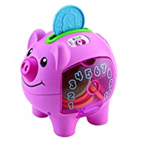 Fisher-Price Smart Stages Piggy Bank, Baby Electronic Educational Toy with Songs and Phrases and Lights teaching Counting, Numbers, Colours, 6 Months Plus