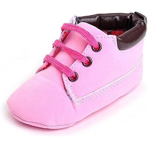 hibote Bebé recién nacido de cuero suave de la zapatilla de deporte del niño de los zapatos de