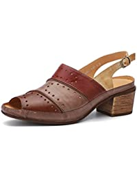 Chanclas Zapatos Sandalias Con es Y Mujer Para Amazon Piel p4qZBpX