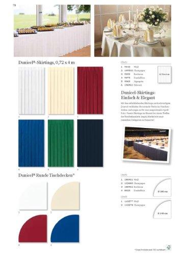 Duni 143577Dunicel Runde Tischdecken, 240cm x 240cm, weiß (10Stück)