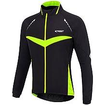 iCreat Hombre Jacket Air Jacket Wind Densidad Agua Densidad MTB Mountain Bike Jacket visible reflectante, forro polar cálido Jacket Para Otoño, Tamaño de S hasta XXL, otoño/invierno, hombre, color verde, tamaño extra-large