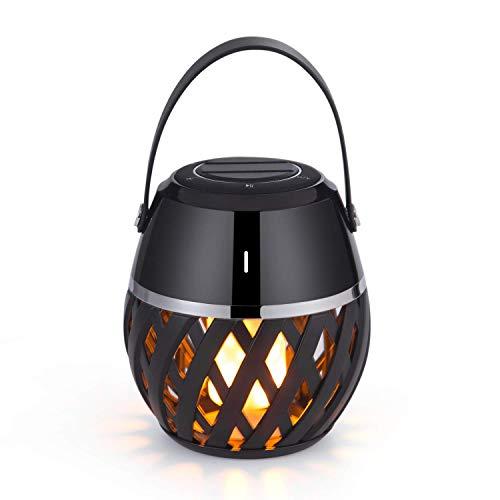 Wealth LED-Bluetooth-Lautsprecher - tragbare drahtlose Lautsprecher - flackernde Flammenlichter Laterne Bluetooth-Lautsprecher - Geschenkideen-Atmosphäre Tischlampe
