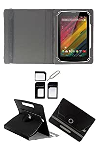"""Hello Zone With Free Sim Adapter Kit Nokia Lumia 2520 360° Rotating 10"""" Inch Flip Case Cover Book Cover -Black"""