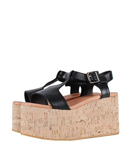 Jeffrey Campbell Weekend Sandals Noires Calage Sandales-Black Noir - Noir
