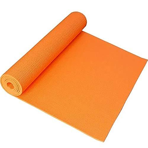 JLCP PVC-Material Yoga-Matte, 4Mm Feuchtigkeitsdichte Kalte Warme Yoga-Matte, Männer Und Frauen Indoor-Aktivitäten Outdoor-Sportmatte,Orange -