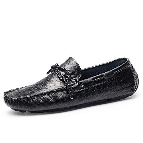 Lässige und bequeme Bootsschuhe Battle Driving Penny Loafers Für Männer Peans Schuhe Slip On Kunstleder Normallack Flache Schuhe Erfahrene Genähte Lug Sohle Normallack Bootsschuhe Klassische Retro-Sli -