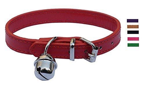 Fashion Leder Pet Halsbänder für Katzen, Baby Welpen Hunde, verstellbar 20,3cm -10.5
