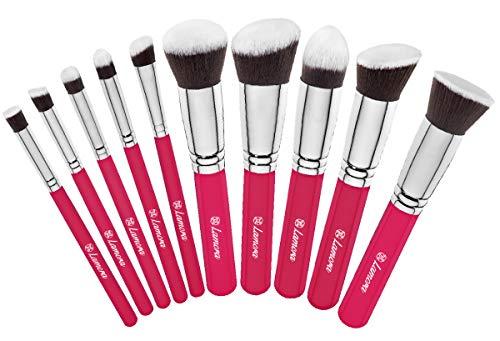 Waschen Kabuki-pinsel (Kabuki Pinsel Set - Make Up Foundation Kosmetik Pinselset - 10 Teiliges Premium Schminkpinsel Set (Puderpinsel Foundation Rouge Pinsel Inkl.) - Ideal für Puder, Cremige und Flüssige Makeup Produkte -)
