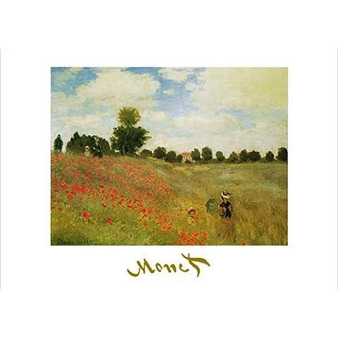 Monet, Claude–Papaveri–stampata Art Print schermo rilievo dipinto–dimensioni 70x 50cm + accessori