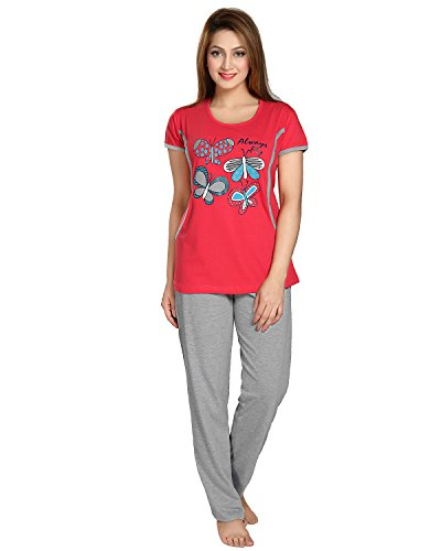 AV2 Women Cotton Graphic Feeding/Nursing/Maternity Top & Pyjama Set