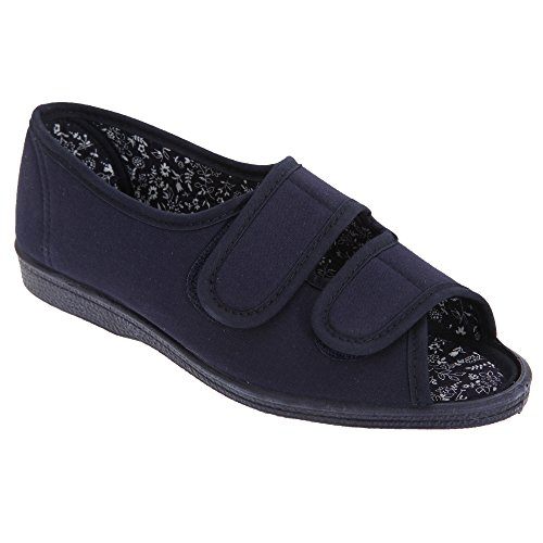 San Diego Scarpe Casual Larghe a Strappo - Donna (36 EUR) (Blu Navy)
