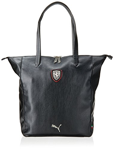 Puma Ferrari Ls Shopper Bag-Borsa, taglia unica, colore: nero