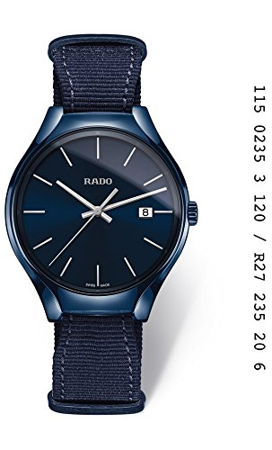 Montre Rado True de Homme en céramique Bleu et Sangle de nylon r27235206.