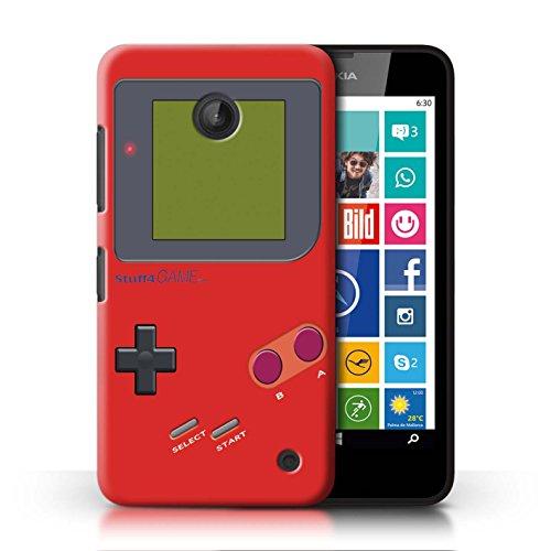 Stuff4® Hülle/Case für Nokia Lumia 635/Rot Muster/Videogamer/Gameboy Kollektion