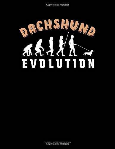 Dachshund Evolution: Cornell Notes Notebook por Jeryx Publishing