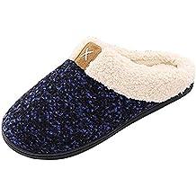 Darringls_Zapatos de hombre,Al Aire Libre Zapatillas Caliente Slippers Interior Suave Algodón Zapatilla Mujer Hombres