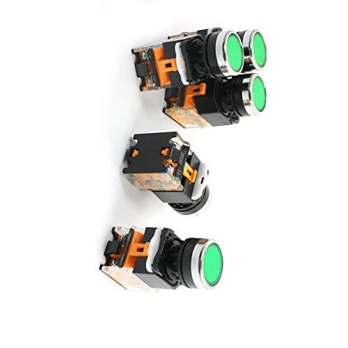 Aexit 5 Unidades AC 400V 10A 1 NO 1 NC 4 Terminales