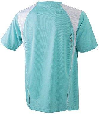 Atmungsaktives T-Shirt in Kontrastfarben Mint/White