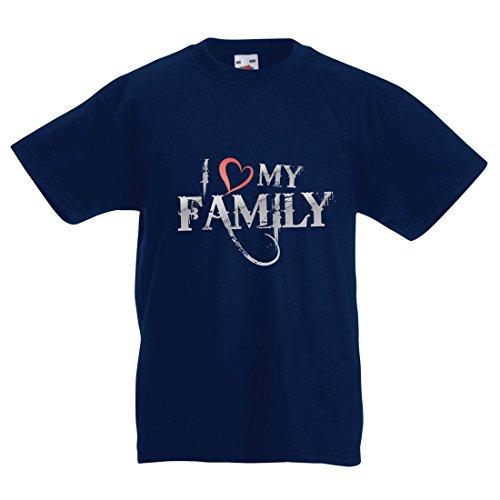 irt Einzigartige Designer Hemden Zeigen Ihre Liebe - fantastisches zusammenpassendes Kleid der Familie (9-11 Years Dunkelblau Mehrfarben) (Die Geschichte Von Halloween Ghouls)