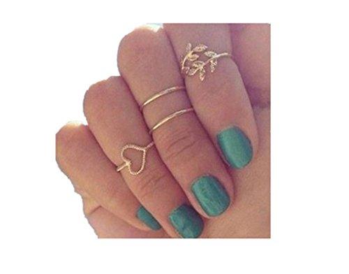 ilovediy-fingerring-set-fur-damen-uberzogene-blatt-herz-joint-knuckle-nagel-ring-satz-der-vier-ringe