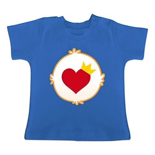 Karneval und Fasching Baby - Cartoon-Bärchis Krone - 18-24 Monate - Royalblau - BZ02 - Baby T-Shirt ()