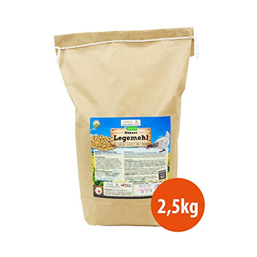 WachtelGold Hühnerfutter - 2,5kg Legemehl - ohne Gentechnik - für Legehennen