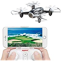 Price comparsion for Spatial Element FPV Mini Pocket Remote Control Drone With Camera Syma X22W Quadcopter RTF Helicopter Gravity Sensor Nano Drone Automatic Hover Function Headless Mode 2.4Ghz 6 Axis Gyro 4 CH Black