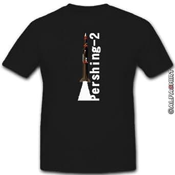 Pershing 2 fusée atom oTAN la guerre froide amérique allemagne t shirt pour homme#8762 xL