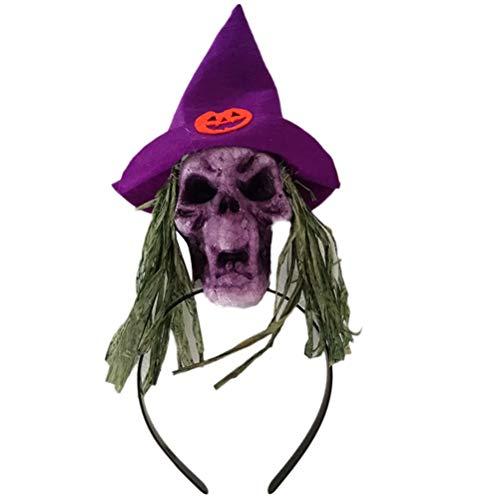 Dance Kostüm Hoop - Amosfun Halloween Stirnband Scary Skull Hair Hoop Headwear Haarschmuck Halloween Dekoration für Dance Party Cosplay Halloween Kostüme Zufällige Farbe
