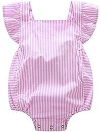 iBaste Los bebés y niños pequeños conjuntos de bebe Mono de la tela escocesa