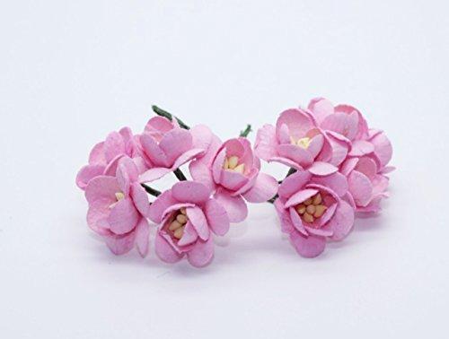 50-pink-mulberry-paper-cherry-blossom-flower-handmade-wedding-20-cm