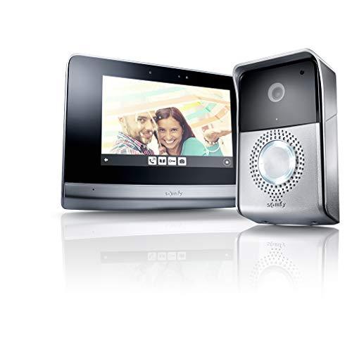 Somfy 2401446 - Visiophone V500, Interphone Vidéo écran tactile 7 pouces| Vision Nocturne | Pilote jusqu'à 5 automatismes RTS | Mémoire d'image | Evolutif pour 2 logements