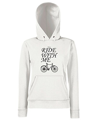 T-Shirtshock - Sweats a capuche Femme CIT0189 ride with me Blanc