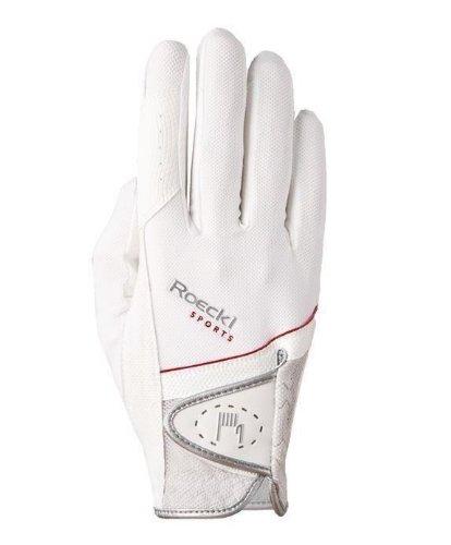 Roeckl Sports Handschuh Madrid, Unisex Reithandschuh, Weiß, Größe 7,5