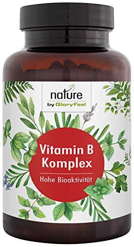 Vitamin B Komplex - 200 Vegane Kapseln - Höchstdosierter Vitamin-B-Kompex - Alle 8 B-Vitamine in bio-aktiven Formen - Höchste Bioverfügbarkeit - Laborgeprüfte Herstellung in Deutschland - Super-b-komplex-tabletten