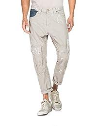 Salsa - Jeans gris avec des poches dans les genoux et graphiques - Homme