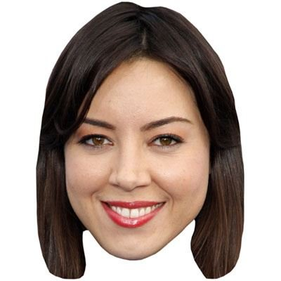 Celebrity Cutouts Aubrey Plaza Maske aus Karton