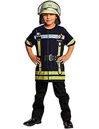Juegos de bomberos camiseta de colour azul, para niño