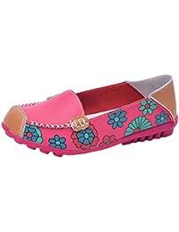 Vovotrade Zapatos casual de cuero para mujer