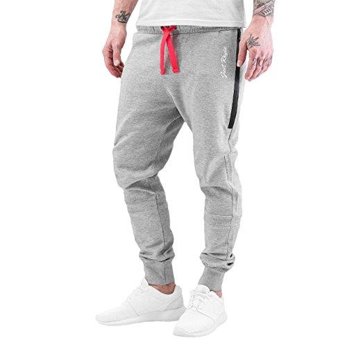 JUST RHYSE Big Pocket Tech Herren Sweat Pants Jogginghose Sporthose Trainingshose Fitnesshose Stoffhose Relaxhose LaufhoseJogger DefShop Grau Schwarz S M L XL XXL 3XL 4XL 5XL 6XL