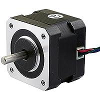 UEETEK NEMA17 Motor Paso a Paso Bipolar 42mm 26Ncm(36.8oz.in) para Impresora 3D CNC 12V 0.4A