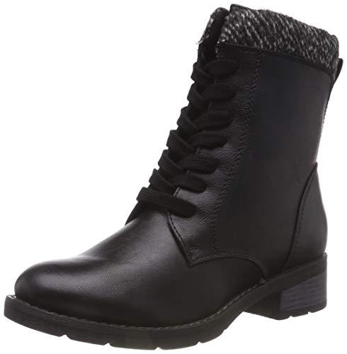 MARCO TOZZI Cool Club Mädchen 46206-21 Combat Boots, Schwarz (Black Ant.Comb 096), 34 EU