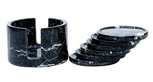 Runde Leder Coaster (Radicaln Untersetzer Set für Drink Cup Pad, handgefertigte Marmorbecher Runde Untersetzer Set - Warming Stone Frauen Löffel Rest, extrem Caddy saugfähig mit Halter Coffee Coaster Set)