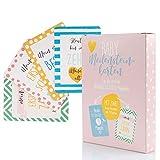 Baby Meilensteinkarten mit 68 Motiven für Mädchen Geschenk Set Fotokarten für Geburt, Schwangerschaft, Babyparty und Taufe