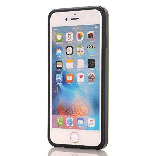 iPhone 6 Coque,EVERGREENBUYING [Slider Series] Ultra Slim léger 2 en 1 IPHONE 6s Cases [Porte coulissante semi-automatique][Housse de Protection] [Fente pour Carte] Cover Pour iPhone 6 / 6S 4.7 inch N Vert