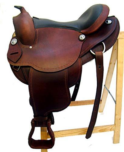 Westernsattel AUSTIN aus Büffelleder hoher Qualität Neu, Größe:17 Zoll -