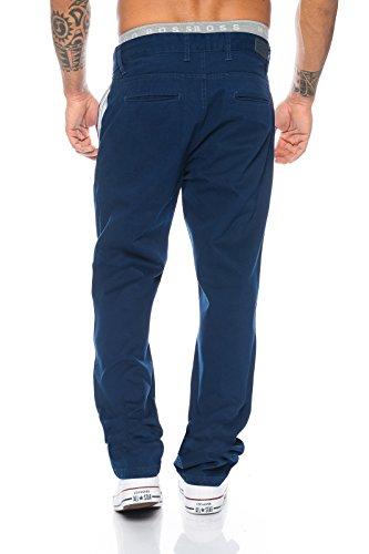 Rock Creek Herren Designer Chino Stoff Hose Chinohose Regular Fit Herrenhose W29-W40 RC-2083 Blau
