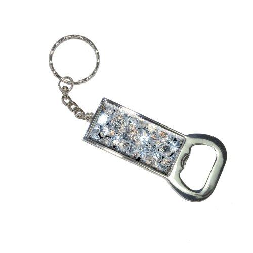 Lose Diamanten Schlüsselanhänger Ring Flasche Bottlecap Öffner (Diamanten Lose Ring)