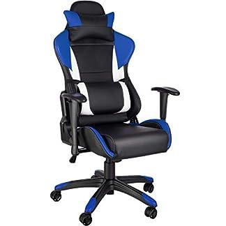 TecTake Silla de Oficina ergonomica Racing Gaming con Soporte Lumbar