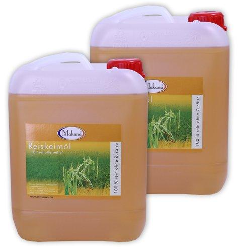 Makana Reiskeimöl für Tiere, 5 Liter Kanister, 2er Pack (2 x 5 L)